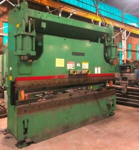 1988 Cincinnati Model 230cb10 230 Ton Cnc Press Brake W Hurco 2 Axes Control