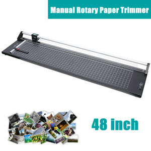 48 Rotary Paper Cutter Portable Trimmer Manual Guillotine Paper Cutting Machine