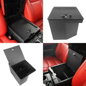 Fit For 2014 2021 Toyota Tundra Center Console Organizer Storage Box Steel Black