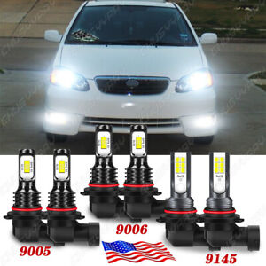 For Toyota Corolla 2005 2006 2007 2008 Led Headlight Bulbs High Low Fog Light