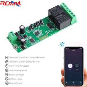 2 Channel Wifi Smart Home Switch Remote Control Relay Module For Tuya smart Life