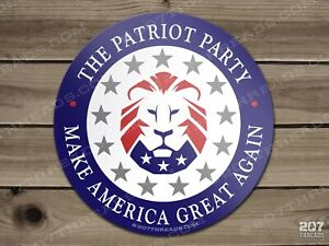 The Patriot Party Sticker Trump Usa Maga 2024 Lion American Patriotic 1776 Decal