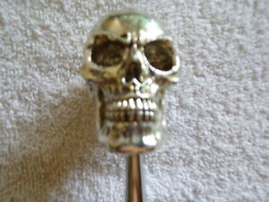 Chrome Skull Shift Knob Custom Hotrod ratrod steam Punk rockabilly goth