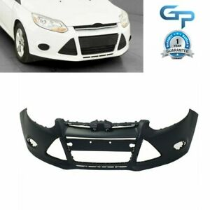 New Primered For 2012 2013 2014 Ford Focus Sedan W Tow Hole Front Bumper Cover