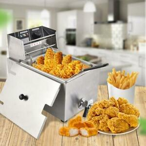 8l Single Tank Single Screen Electric Fryer Food Stainless Steel High Capacity