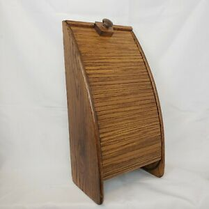 Mcm Roll Top Desk Orginizer For Mail Or Stationary Made From Wood Mid Century