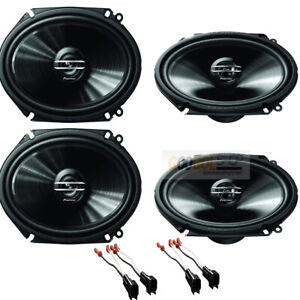 500w Max Pioneer 6 X 8 5 X 7 Front rear Speakers Kit For 1999 2014 Ford F 150