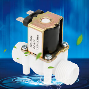 G1 2 12v Nc Plastic Electrical Inlet Solenoid Water Valve For Water Dispense Us