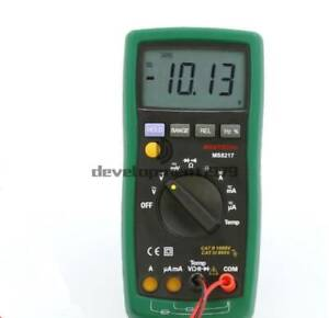 Mastech Ms8217 Digital Multimeter Auto Ranging Frequency Temperature Tester