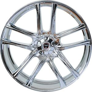 4 Gwg 22 Inch Staggered Chrome Zero Rims Fits Ford Shelby Gt 500 2007 2018