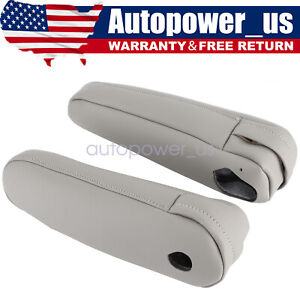 1pair Seat Armrest Leather Cover Fit For Lexus Rx 300 330 350 2003 2009 Gray