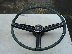 1967 442 Cutlass F85 Rare Olds Blue Steering Wheel Horn Bar Gm Oem