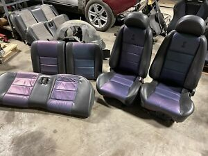 2003 2004 Ford Mustang Svt Cobra Seats 04 Mystichrome Coupe Front Rear Set