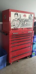 Vintage Mac Tool Box Rare Dale Earnhardt Edition Upper And Lower Boxes