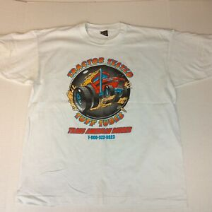 Vintage Hanes Best Single Stitch XL Tractor Tire Best Rubber Double Sided Tshirt $24.99
