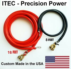 Battery Relocation Kit 2 Awg Cable Top Post 16 Ft Red 8ft Black usa Made