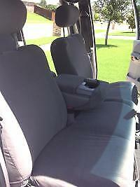 2001 2003 Ford F150 Crew Cab Front Exact Fit Seat Covers 40 60 Split Gray Twill