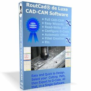 Cad Cam Software Luxe Cnc Mill Mach 3 Emc2 G code With Tutorial Video Download