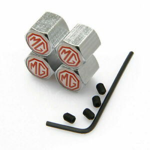 Modified Wheel Tire Valve Stems Caps Anti theft Locking For Mg R Silver Js388