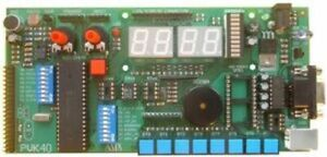 Microchip Pic Board 40 pin 4x7 Led Rs232 Ir Usb Option