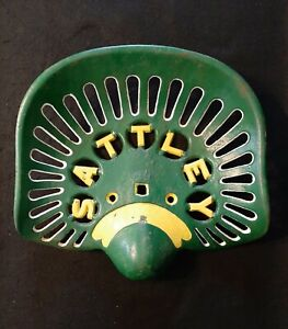 Vintage Cast Iron Farm Tractor Seat Advertising Sattley