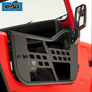 Eag Tubular Safari Door With Side View Mirror Fit For 76 95 Jeep Cj7 Yj Wrangler