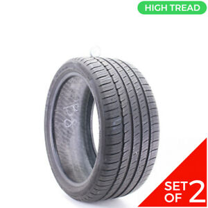 Set Of 2 Used 255 35r18 Michelin Primacy Mxm4 Mo 94h 8 5 32