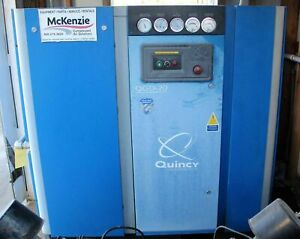 Used 2012 Quincy Qgd 20 20hp Rotary Screw Air Compressor W 120 Gallon Tank