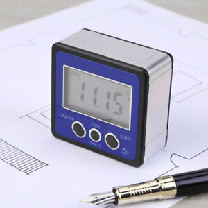 Digital Protractor Magnetic Angle Finder Bevel Level Inclinometer Measure Tool