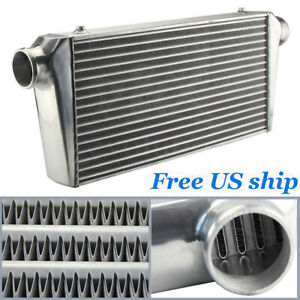Bar Plate Intercooler 600x300x76mm 3 Outlet inlet Front Mount For Universal