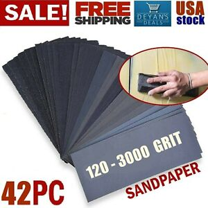 Sandpaper Sheets Sanding Paper Grit Wet Dry For Wood Auto Car Metal Work