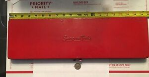 Snap On 1975 Empty 19 X6 Red Metal Box Case For 3 8 Set Kra 281 Very Nice