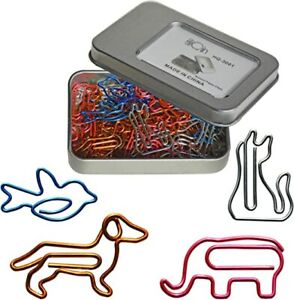 Cool Paper Clips Of All Kinds Of Colors Animal Marking Clips Office Supplies