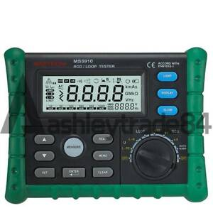 Circuit Breaker Rcd Loop Tester Meter Trip out Time Current V Freq Usb Ms5910