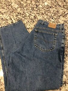 Vintage Lee 40 X 30 Mens Blue Denim Jeans Made In USA Cotton Heavy Duty $28.99