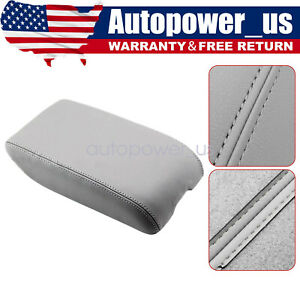 Fit For 2000 2004 Toyota Avalon Xl Leather Center Console Lid Armrest Cover Gray