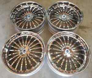 Asanti Af 122 Forged Wheels Rims 22 Inch Staggered 5x120 32mm Chrome
