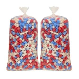 Red White And Blue Star shaped Packing Peanuts 3 Cu Ft 2 pack