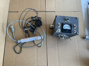 Vintage Fisher M scope Geiger Counter Probe And Unit No Battery