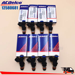 8pcs 12580681 Fuel Injector Ac Delco 217 1621 Fits For Chevy Gmc 4 8 5 3 6 0 6 2