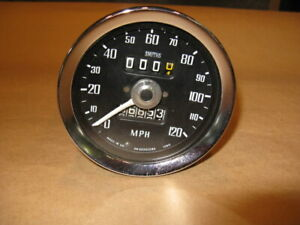 Mgb Smith Speedometer 5130 08 For 1972 74 Mgb Mgbgt W Overdrive refurbished