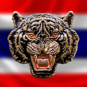 Genuine Phra Lp Boon Ma Tiger Face Thai Amulet Life Protect Powerful Magic Lucky