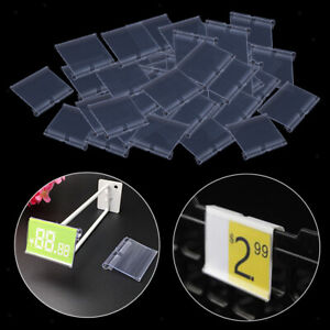 Pack Of 50 Clear Plastic Retail Price Tag Label Display Holder Durable