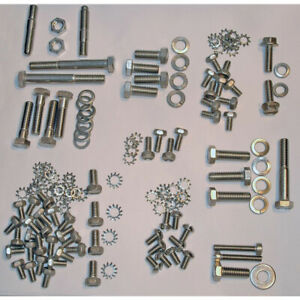 Full Size Chevy Engine Bolt Kit Stainless Steel 235ci Use With Valve