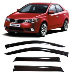 For Kia Cerato Sd 2009 2013 Window Side Visors Sun Rain Guard Vent Deflectors
