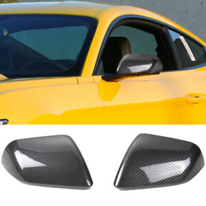 Carbon Fiber Rear View Wing Mirror Cover Trim Housing For Ford Mustang 15 A