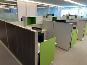 Haworth 6x6 Compose Cubicles 7 Color Options Large Inventory Delivery Available