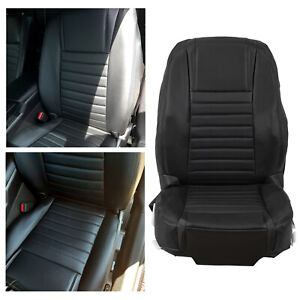 For 2005 2009 Ford Mustang Driver Bottom top Black Seat Cover Set