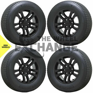 18 Chevrolet Silverado 1500 Truck Black Wheels Rims Tires Factory Oem Set 5646