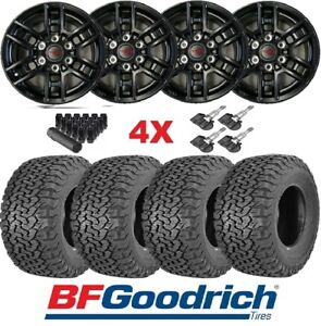 Trd Black Wheels Rims Tires 265 65 17 Bfgoodrich Ko2 All Terrain Package 96519